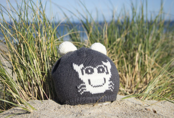 Baby Bobble Hat - Crab - Charcoal