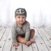 Baby Beanie - Anchor - Fudge