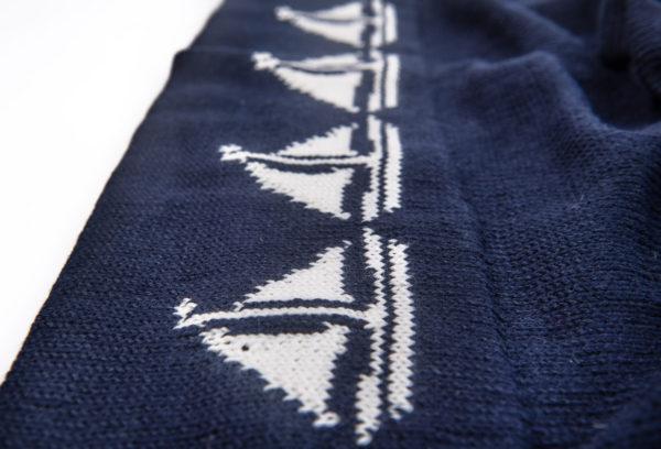 Baby Pram Blanket - Sailboat - Ink