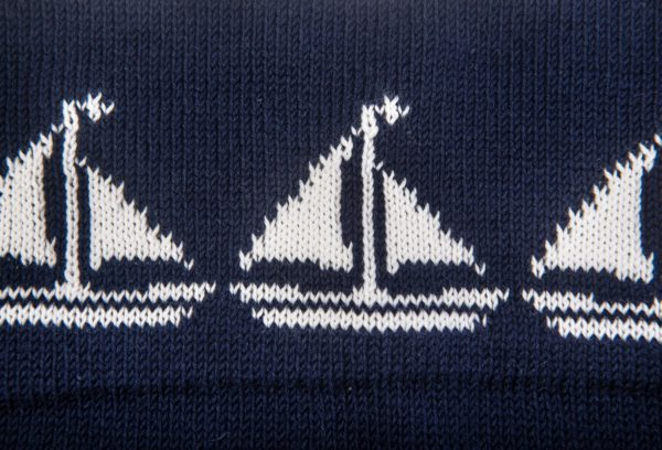 Baby Pram Blanket - Sailboat - Ink
