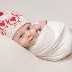 Love Bug Baby Bobble Hat
