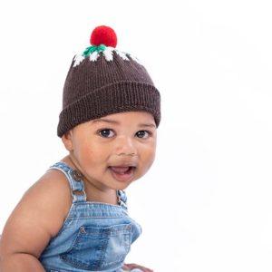 Christmas Pudding Bobble Hat